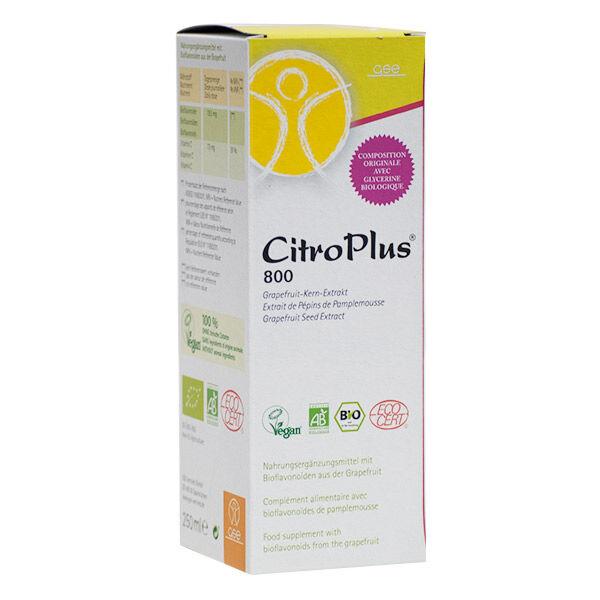 CitroPlus 800 Extraits de Pépins de Pamplemousse 250ml