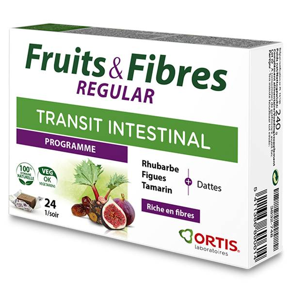 Ortis Transit Intestinal Fruits & Fibres Regular 24 cubes