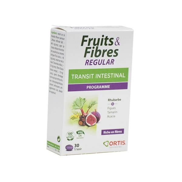 Ortis Fruits & Fibres Regular Transit Intestinal 30 comprimés
