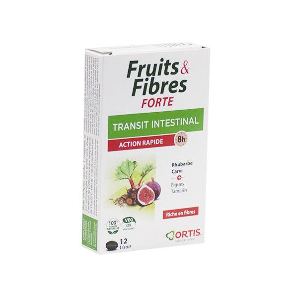 Ortis Fruits & Fibres Forte Transit Intestinal 12 comprimés