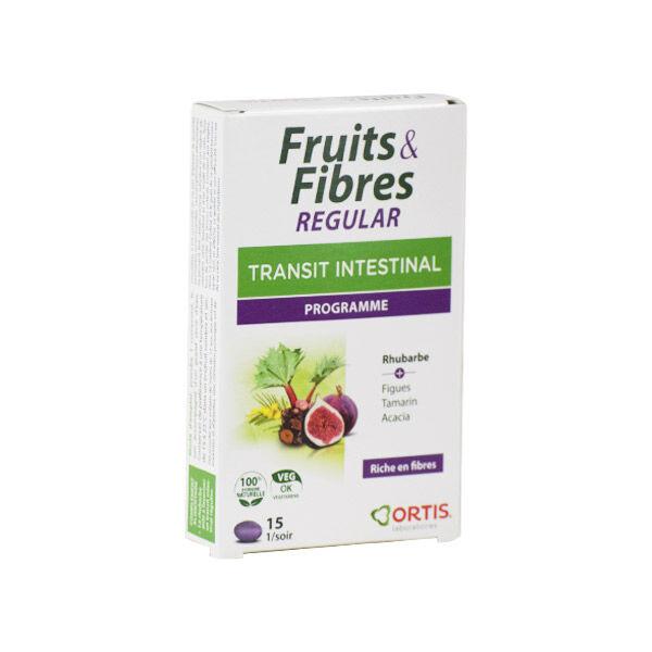Ortis Fruits & Fibres Regular Transit Intestinal 15 comprimés