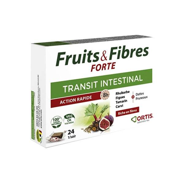Ortis Fruits & Fibres Forte Transit Intestinal 24 cubes
