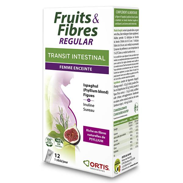 Ortis Transit Intestinal Fruits & Fibres Regular Femme Enceinte 12 sticks