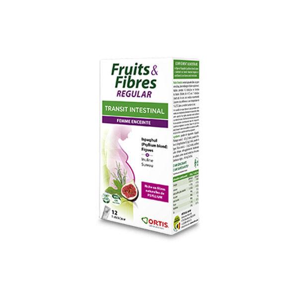 Ortis Fruits & Fibres Regular Transit Intestinal Femme Enceinte 12 sticks