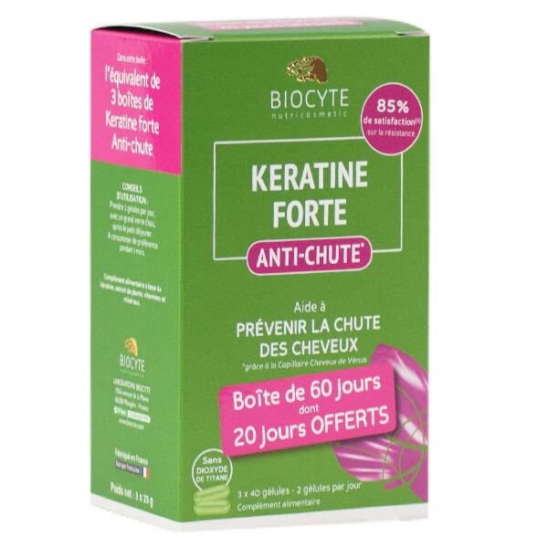 Biocyte Kératine Forte Anti-Chute Lot de 120 gélules