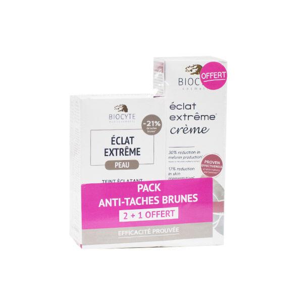 Biocyte Éclat Extrême Pack Anti Tâches Brunes 2 x 40 gélules + Crème Éclat Extrême 50ml Offerte
