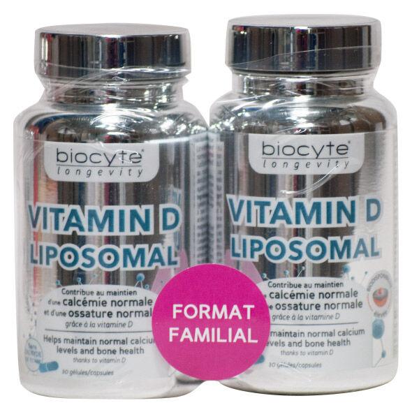 Biocyte Vitamine D Liposomal Lot de 2 x 30 gélules