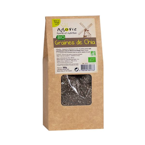 Agovie Bio Graines de Chia 300g