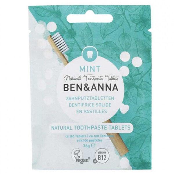 Ben & Anna Dentifrice Solide Menthe Sans Fluor 100 pastilles