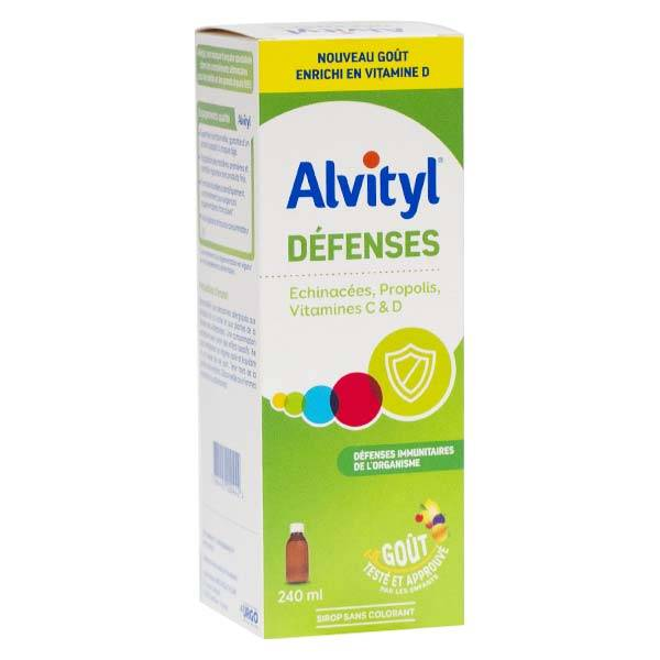 Alvityl Défenses Sirop Vitamine C D 240ml