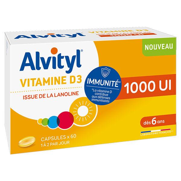 Alvityl Vitamine D3 1000UI 60 capsules