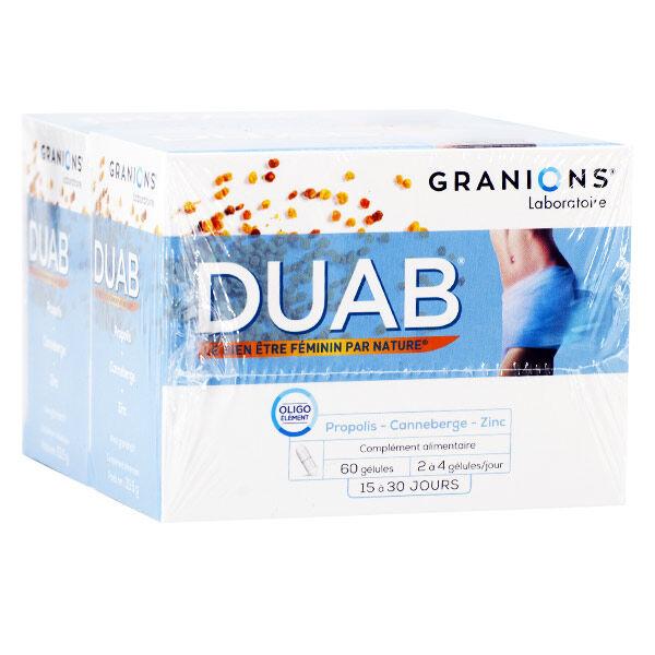Nutrivercell Granions Duab Propolis Canneberge Zinc 2 x 60 gélules