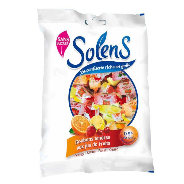 Solens Bonbons sans Sucres Tendres aux Jus de Fruits 100g