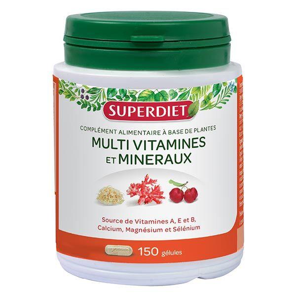 Superdiet Complexe Multivitamines et Mineraux 150 gélules