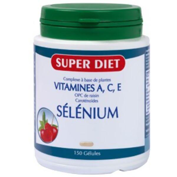 Super Diet Complexe Sélénium - Vitamines A.C.E -150 gélules
