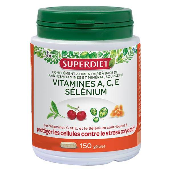 Superdiet Complexe Sélénium Vitamines A.C.E 150 gélules