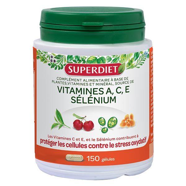 SuperDiet Super Diet Complexe Sélénium Vitamines A.C.E 150 gélules