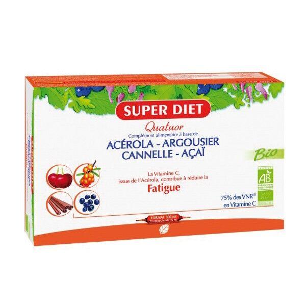 SuperDiet Super Diet Quatuor Acérola Tonique Bio 20 ampoules de 15ml