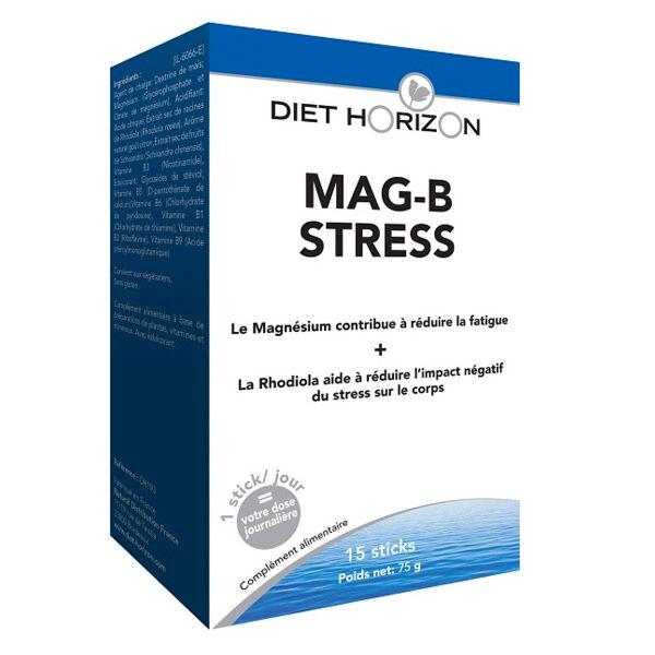 Diet Horizon Mag-B Stress Goût Citron 15 sticks