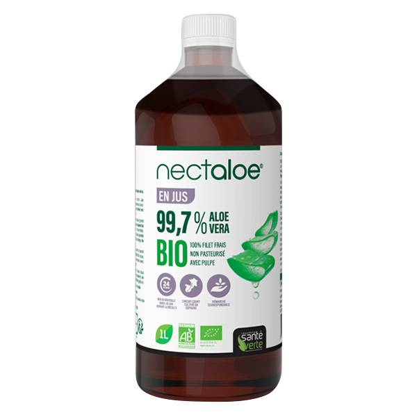 Santé Verte Nectaloe Jus d'Aloé Vera Bio 1L