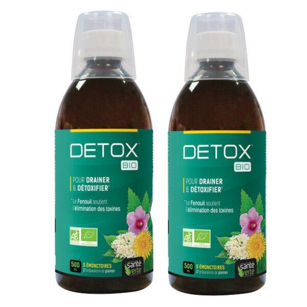 Santé Verte Détox Bio Lot de 2 x 500ml