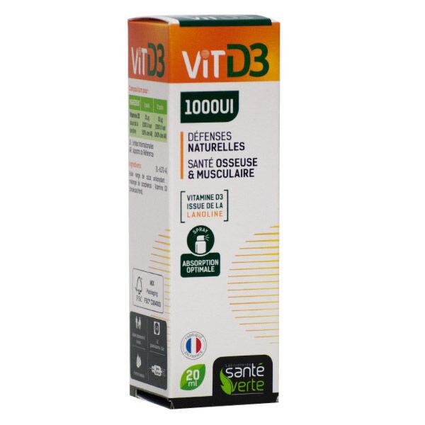 Santé Verte Vitamine D3 1000UI 20ml