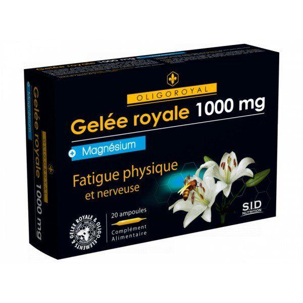 SID Nutrition Oligoroyal Gelée Royale - Magnésium 20 ampoules