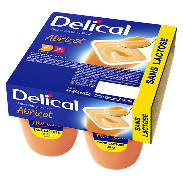 Delical Crème Dessert HP HC sans Lactose Abricot 4 x 200g