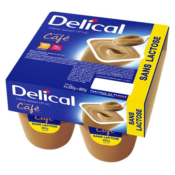 Delical Crème Dessert HP HC sans Lactose Café 4 x 200g