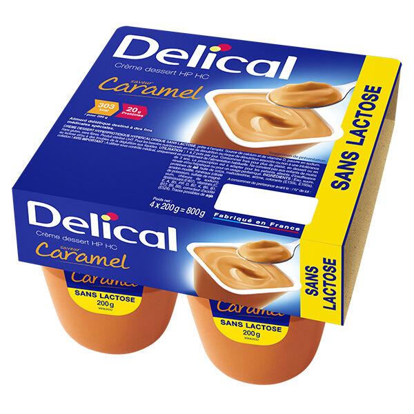 Delical Crème Dessert HP HC sans Lactose Caramel 4 x 200g