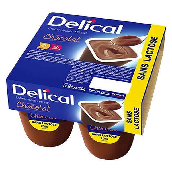 Delical Crème Dessert HP HC sans Lactose Chocolat 4 x 200g