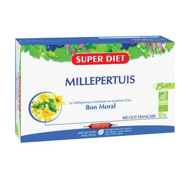 Super Diet Millepertuis Bio 20 ampoules de 15ml