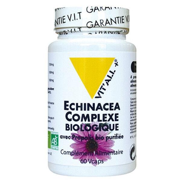 Vit'all+ Echinacea Complexe Bio avec Propolis 60 gélules végétales