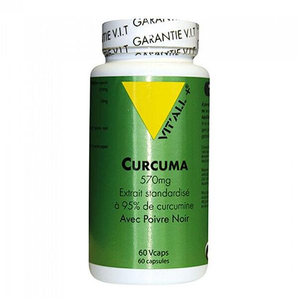Vit'all+ Curcuma 570mg avec Poivre Noir 10mg 60 gélules