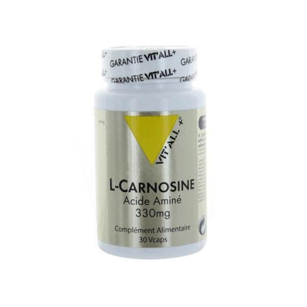 Vit'all+ L-Carnosine Acide Aminé 330mg 30 gélules végétales