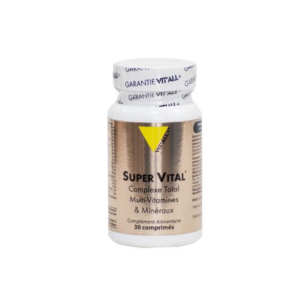 Vit'all+ Super Vital Complexe Total Multi-Vitamines et Minéraux 30 comprimés sécables