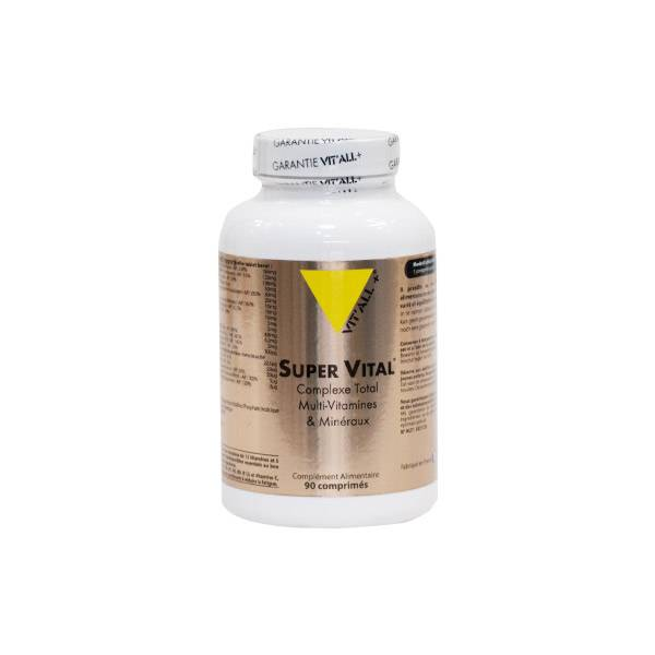 Vit'all+ Super Vital Complexe Total Multi-Vitamines et Minéraux 90 comprimés sécables