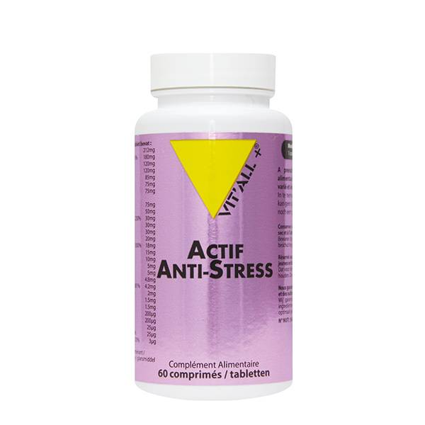 Vit'all+ Anti-Stress Complexe Vitamine B & C 60 comprimés