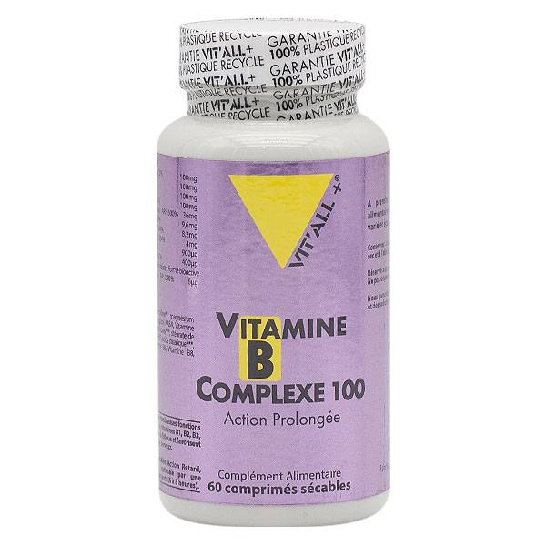 Vit'all+ Vitamines B Complexe 100 Action Prolongée 60 comprimés