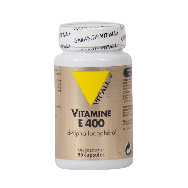 Vit'all+ Vitamine E 400 U.I. 50 capsules