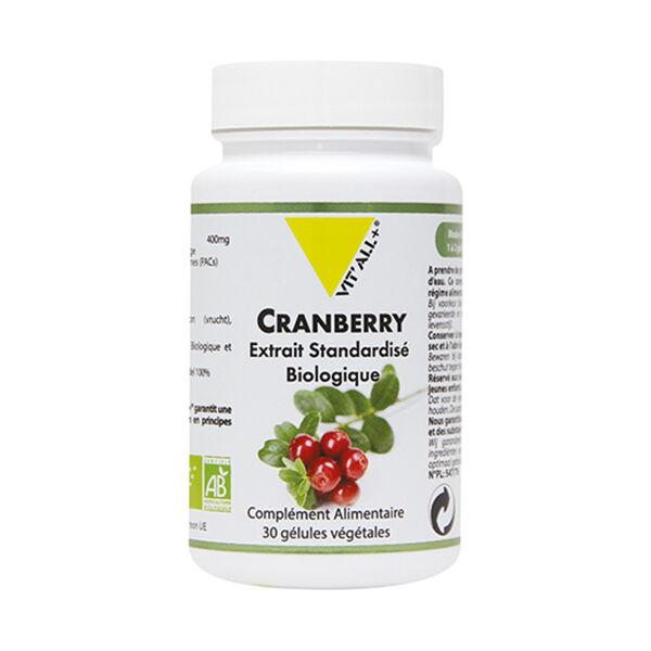 Vit'all+ Cranberry Bio 400mg 30 gélules