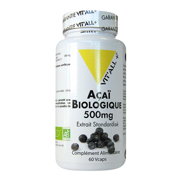 Vit'all+ Açai Bio 500mg 60 gélules végétales