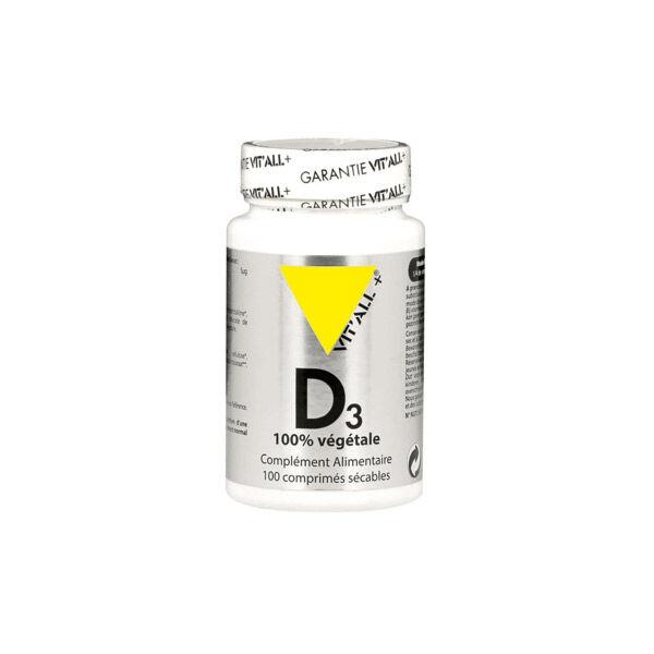 Vit'all+ Vitamine D3 Végétale 100 comprimés