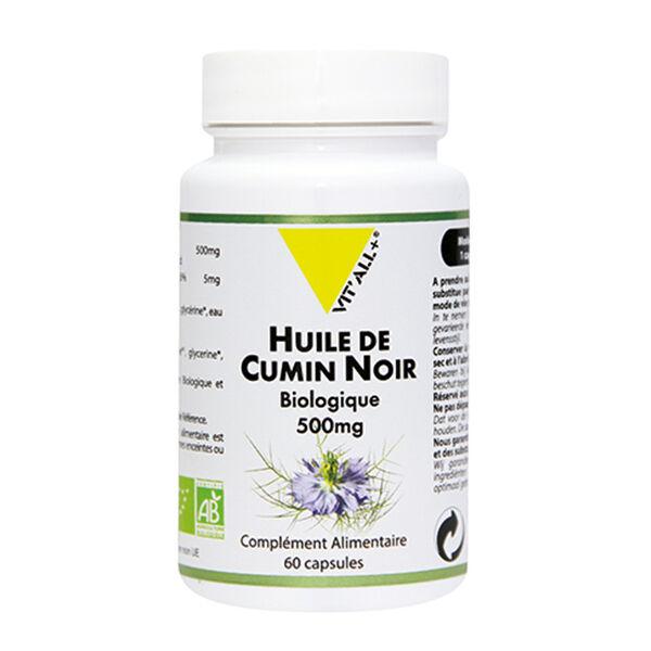 Vit'all+ Huile de Cumin Noir Bio 500mg 60 capsules
