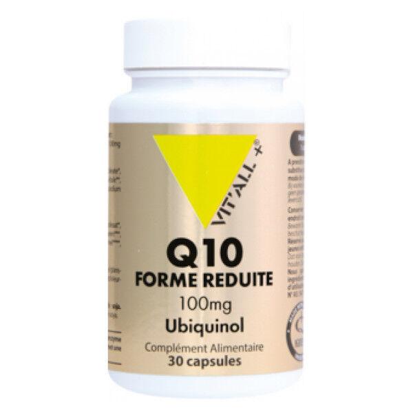Vit'all+ Q10 Forme Réduite Ubiquinol 100mg 30 capsules