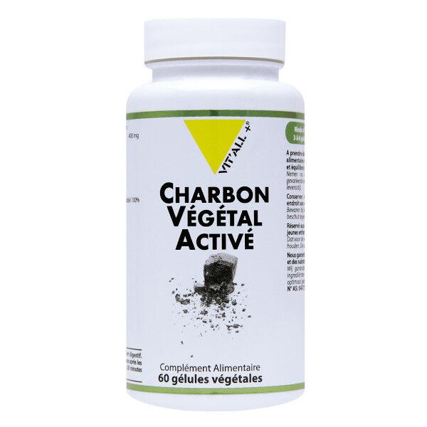 Vit'all+ Charbon Végétal Activé 60 gélules végétales