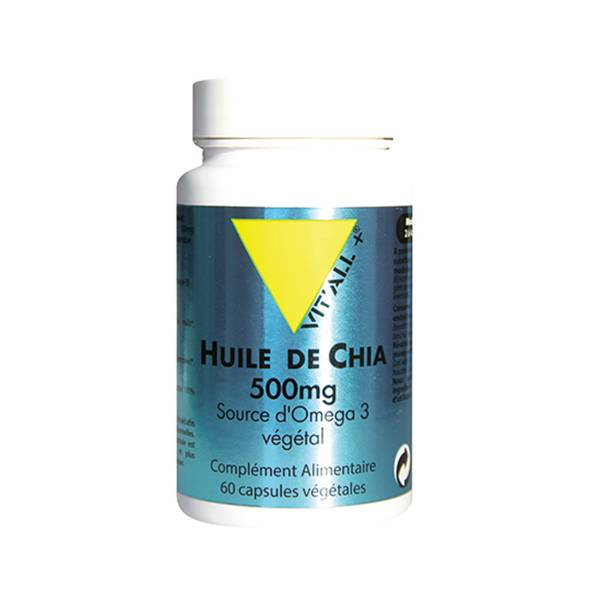 Vit'all+ Huile de Chia 500mg 60 capsules