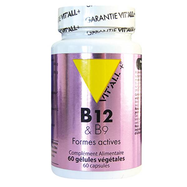 Vit'all+ Vitamines B12 & B9 60 gélules végétales