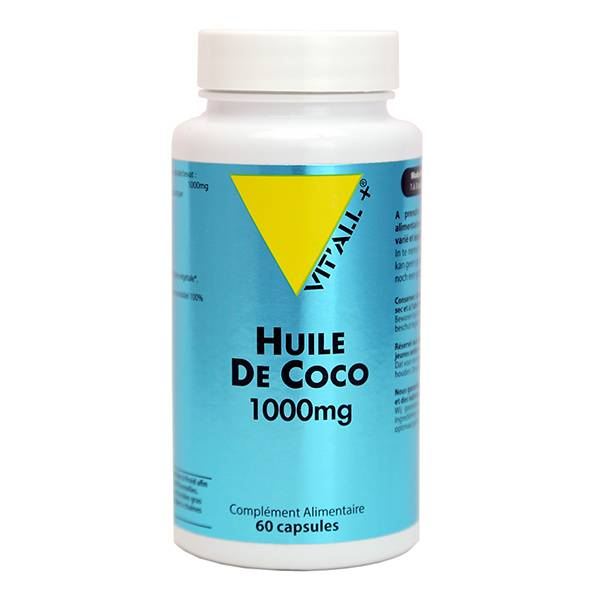 Vit'all+ Huile de Coco 1000mg 60 capules