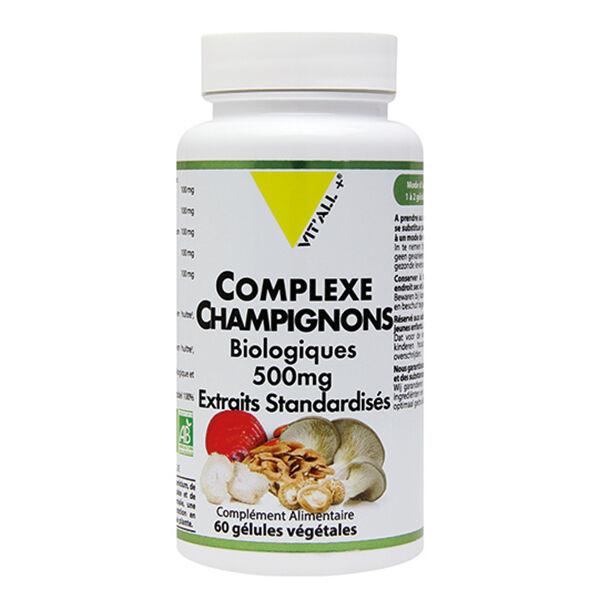 Vit'all+ Complexe Champignons Bio 500mg 60 gélules végétales